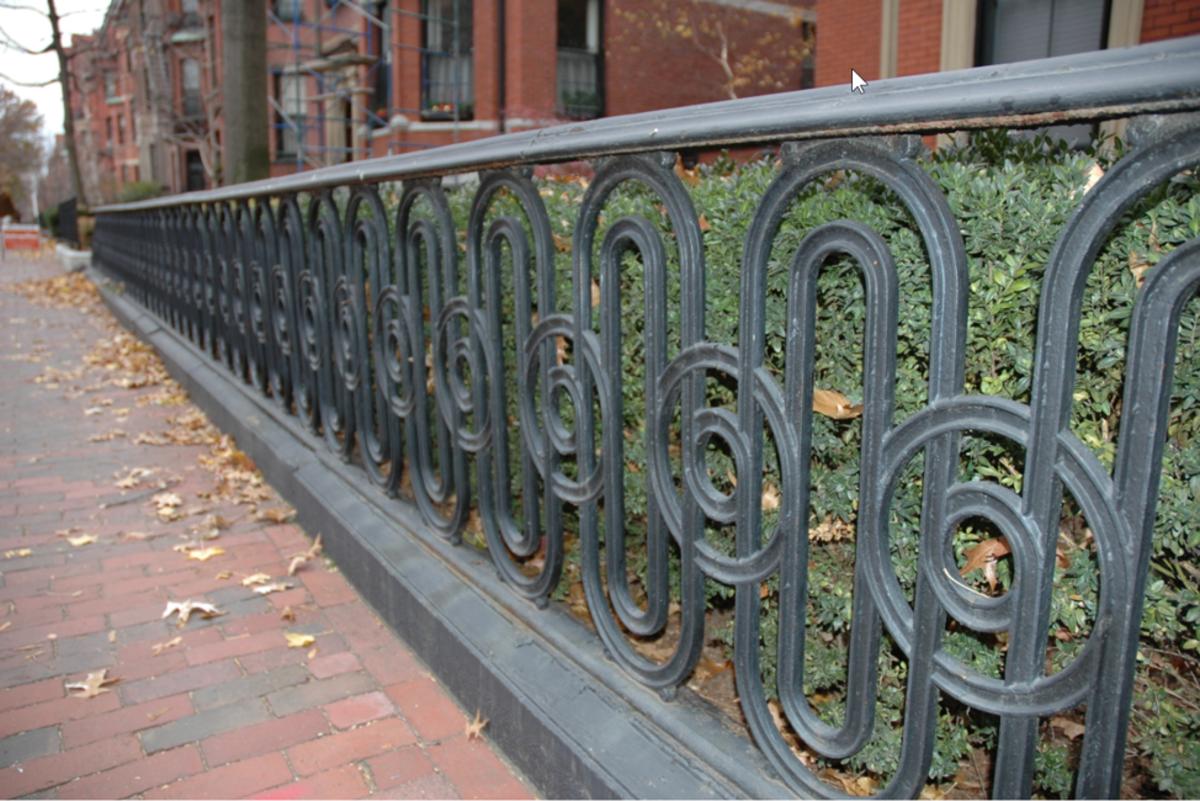 Period  Cast Iron Fence, Boston, MA