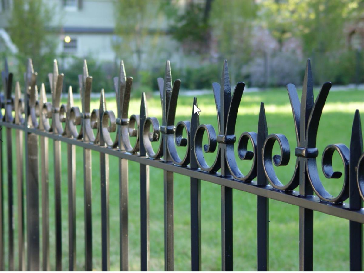 bronze and steel fence, Wiemann Metalcraft