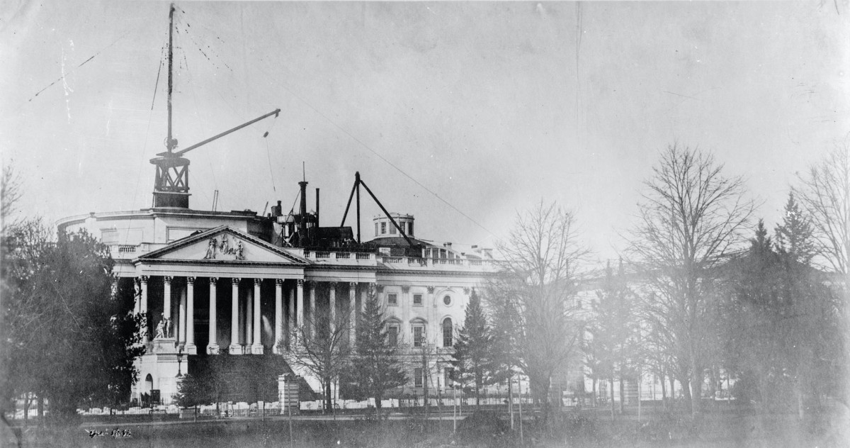 Capitol Dome under construction