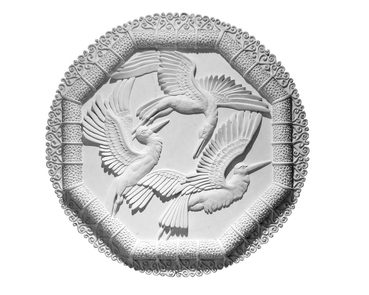 stork medallion plaster