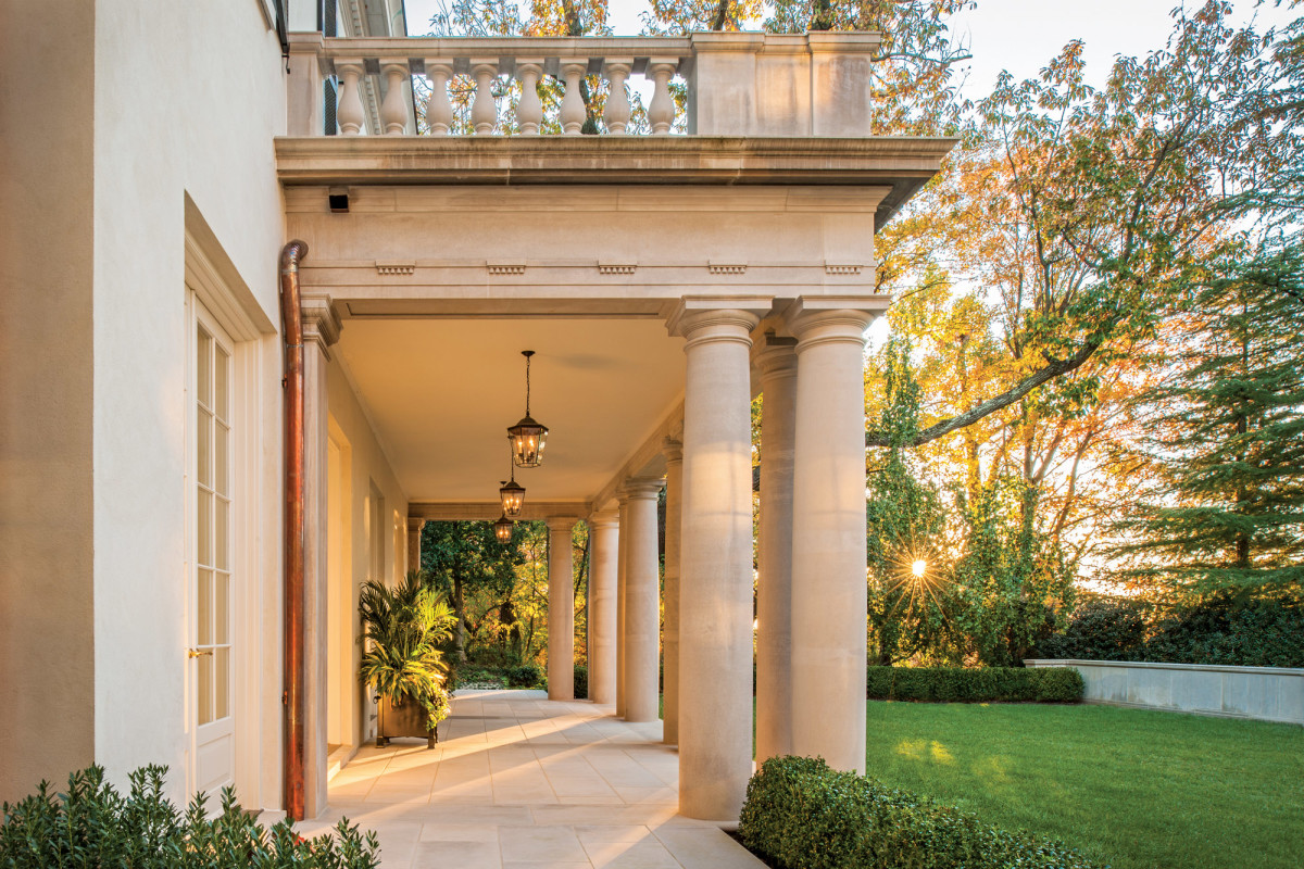 columned back porch