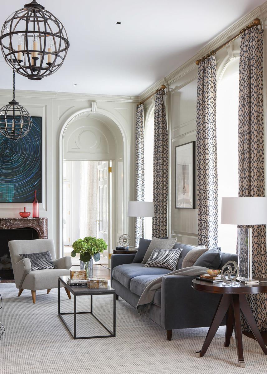 Briarcliff Manor living room, Ferguson Shamamian Architects