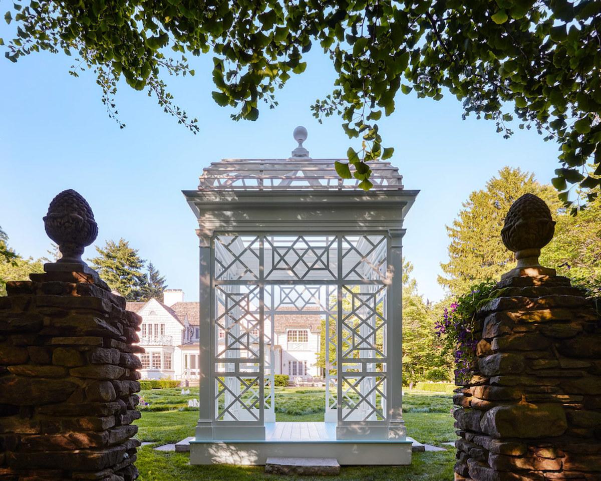 Lake Forest Showhouse Garden Folly, Bories & Shearron Architecture DPC