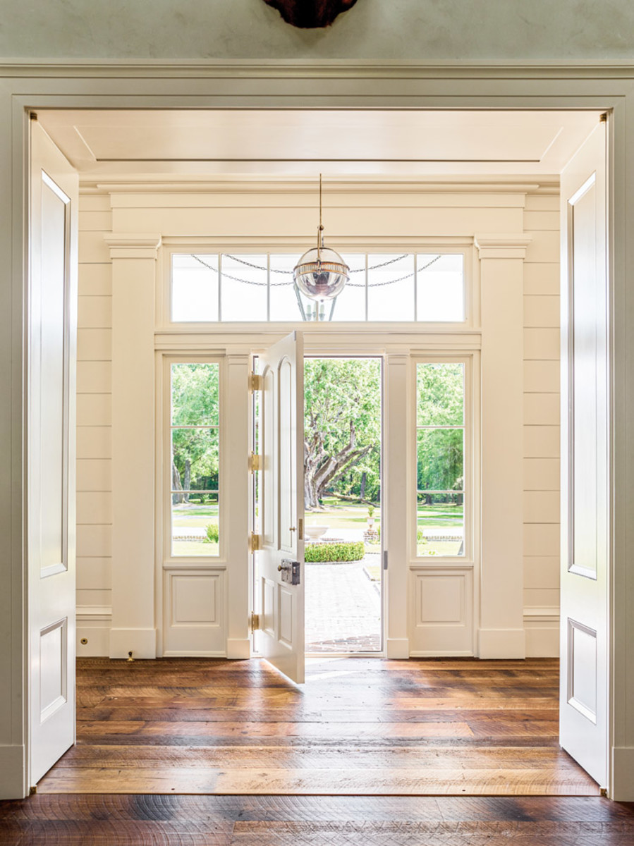 Greek Revival entry hall