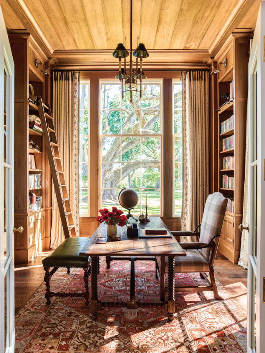 Cypress wood, Greek Revival, library