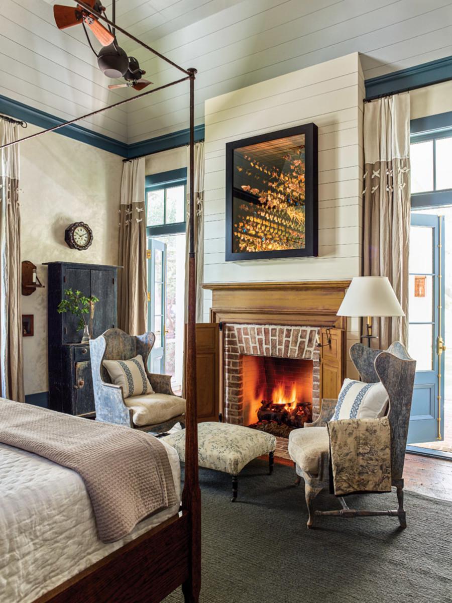 Greek Revival master bedroom